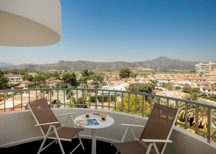 Terrace of the Room in Annex Villa Luz Family Gourmet & All Exclusive Hotel Gandia beach