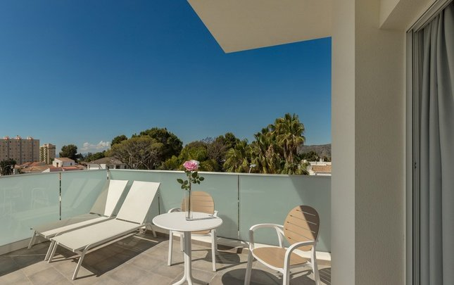 'the tower' terrace club (with private terrace) villa luz family gourmet & all exclusive hotel gandia beach