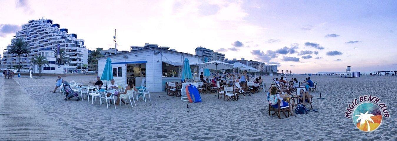 Beach bar 'Magic Beach Club' Villa Luz Family Gourmet & All Exclusive Hotel